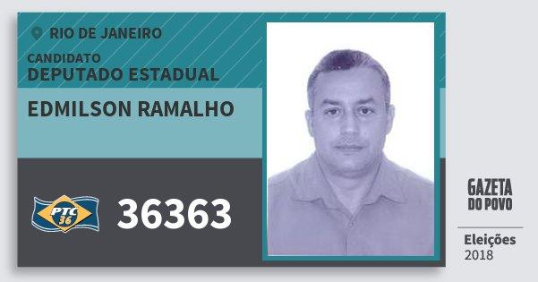 Santinho Edmilson Ramalho 36363 (PTC) Deputado Estadual | Rio de Janeiro | Eleições 2018