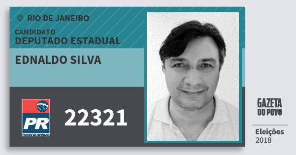 Santinho Ednaldo Silva 22321 (PR) Deputado Estadual | Rio de Janeiro | Eleições 2018