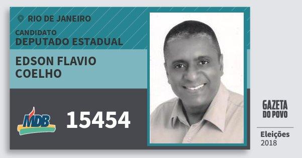 Santinho Edson Flavio Coelho 15454 (MDB) Deputado Estadual | Rio de Janeiro | Eleições 2018