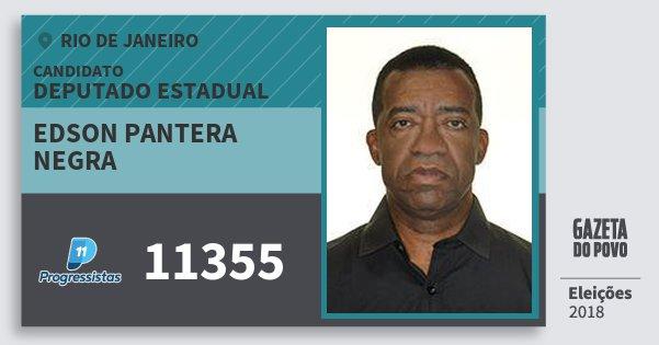 Santinho Edson Pantera Negra 11355 (PP) Deputado Estadual | Rio de Janeiro | Eleições 2018
