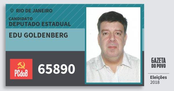 Santinho Edu Goldenberg 65890 (PC do B) Deputado Estadual | Rio de Janeiro | Eleições 2018