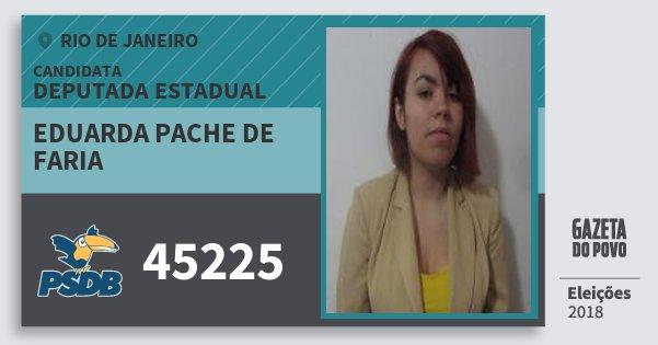 Santinho Eduarda Pache de Faria 45225 (PSDB) Deputada Estadual | Rio de Janeiro | Eleições 2018