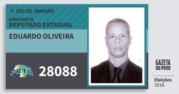 Santinho Eduardo Oliveira 28088 (PRTB) Deputado Estadual | Rio de Janeiro | Eleições 2018