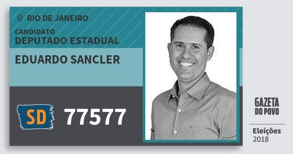 Santinho Eduardo Sancler 77577 (SOLIDARIEDADE) Deputado Estadual | Rio de Janeiro | Eleições 2018