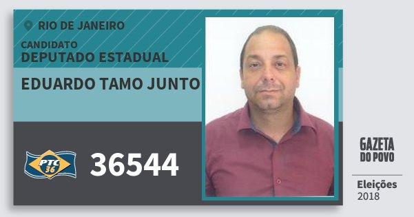 Santinho Eduardo Tamo Junto 36544 (PTC) Deputado Estadual | Rio de Janeiro | Eleições 2018