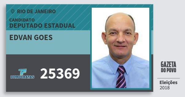 Santinho Edvan Goes 25369 (DEM) Deputado Estadual | Rio de Janeiro | Eleições 2018