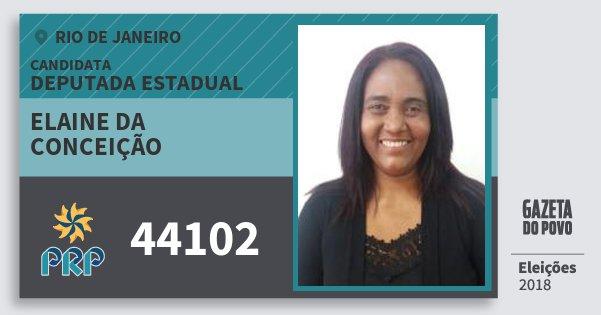 Santinho Elaine da Conceição 44102 (PRP) Deputada Estadual | Rio de Janeiro | Eleições 2018
