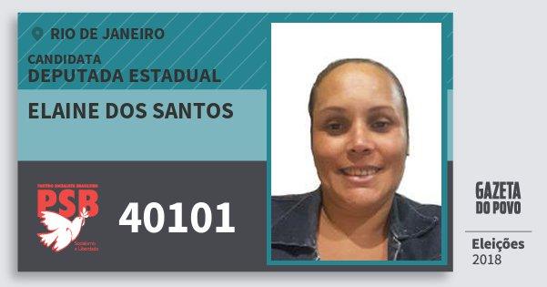 Santinho Elaine dos Santos 40101 (PSB) Deputada Estadual | Rio de Janeiro | Eleições 2018