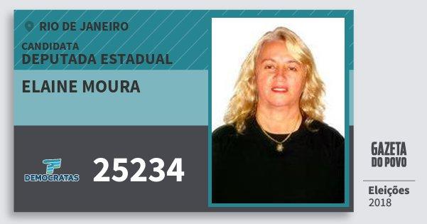 Santinho Elaine Moura 25234 (DEM) Deputada Estadual | Rio de Janeiro | Eleições 2018