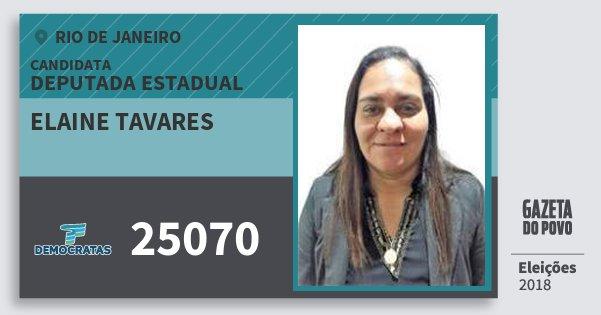 Santinho Elaine Tavares 25070 (DEM) Deputada Estadual | Rio de Janeiro | Eleições 2018