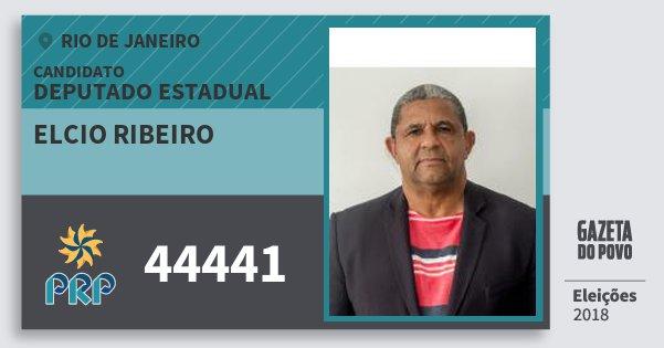Santinho Elcio Ribeiro 44441 (PRP) Deputado Estadual | Rio de Janeiro | Eleições 2018