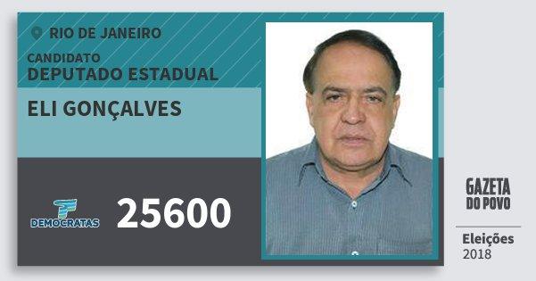 Santinho Eli Gonçalves 25600 (DEM) Deputado Estadual | Rio de Janeiro | Eleições 2018