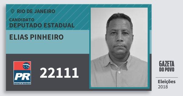 Santinho Elias Pinheiro 22111 (PR) Deputado Estadual | Rio de Janeiro | Eleições 2018