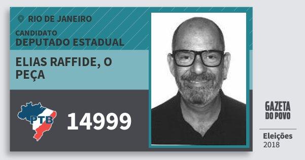Santinho Elias Raffide, O Peça 14999 (PTB) Deputado Estadual | Rio de Janeiro | Eleições 2018