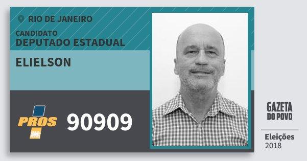 Santinho Elielson 90909 (PROS) Deputado Estadual | Rio de Janeiro | Eleições 2018