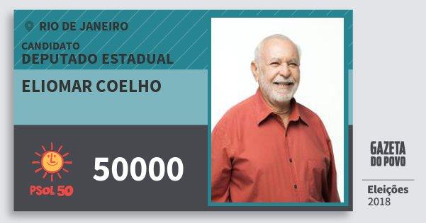 Santinho Eliomar Coelho 50000 (PSOL) Deputado Estadual | Rio de Janeiro | Eleições 2018