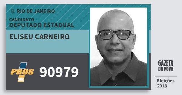 Santinho Eliseu Carneiro 90979 (PROS) Deputado Estadual | Rio de Janeiro | Eleições 2018