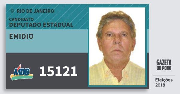 Santinho Emidio 15121 (MDB) Deputado Estadual | Rio de Janeiro | Eleições 2018