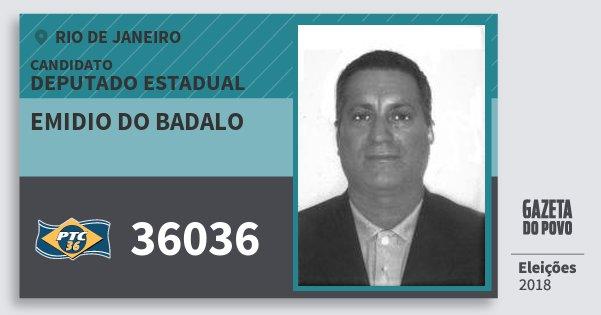 Santinho Emidio do Badalo 36036 (PTC) Deputado Estadual | Rio de Janeiro | Eleições 2018