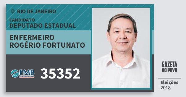 Santinho Enfermeiro Rogério Fortunato 35352 (PMB) Deputado Estadual | Rio de Janeiro | Eleições 2018