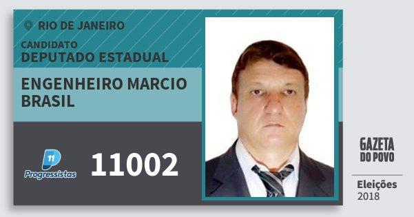Santinho Engenheiro Marcio Brasil 11002 (PP) Deputado Estadual | Rio de Janeiro | Eleições 2018