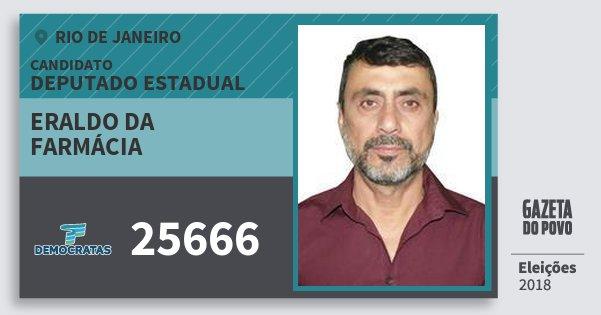Santinho Eraldo da Farmácia 25666 (DEM) Deputado Estadual | Rio de Janeiro | Eleições 2018