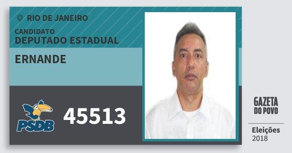 Santinho Ernande 45513 (PSDB) Deputado Estadual | Rio de Janeiro | Eleições 2018