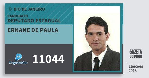 Santinho Ernane de Paula 11044 (PP) Deputado Estadual | Rio de Janeiro | Eleições 2018