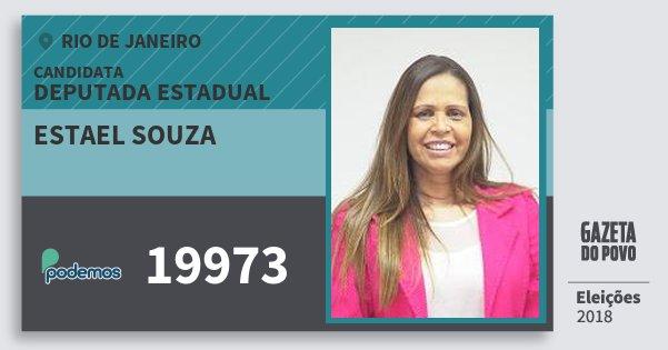 Santinho Estael Souza 19973 (PODE) Deputada Estadual | Rio de Janeiro | Eleições 2018