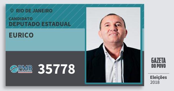 Santinho Eurico 35778 (PMB) Deputado Estadual | Rio de Janeiro | Eleições 2018