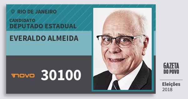 Santinho Everaldo Almeida 30100 (NOVO) Deputado Estadual | Rio de Janeiro | Eleições 2018