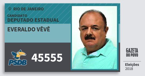 Santinho Everaldo Vêvê 45555 (PSDB) Deputado Estadual | Rio de Janeiro | Eleições 2018