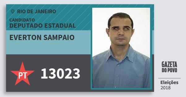 Santinho Everton Sampaio 13023 (PT) Deputado Estadual | Rio de Janeiro | Eleições 2018