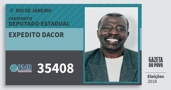 Santinho Expedito Dacor 35408 (PMB) Deputado Estadual | Rio de Janeiro | Eleições 2018