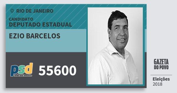 Santinho Ezio Barcelos 55600 (PSD) Deputado Estadual | Rio de Janeiro | Eleições 2018