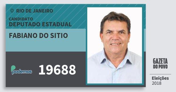 Santinho Fabiano do Sitio 19688 (PODE) Deputado Estadual | Rio de Janeiro | Eleições 2018