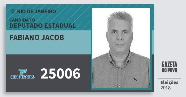 Santinho Fabiano Jacob 25006 (DEM) Deputado Estadual | Rio de Janeiro | Eleições 2018