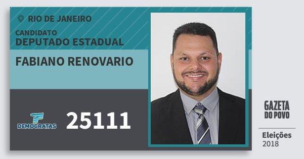 Santinho Fabiano Renovario 25111 (DEM) Deputado Estadual | Rio de Janeiro | Eleições 2018