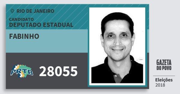 Santinho Fabinho 28055 (PRTB) Deputado Estadual | Rio de Janeiro | Eleições 2018
