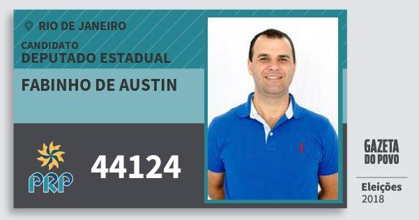 Santinho Fabinho de Austin 44124 (PRP) Deputado Estadual | Rio de Janeiro | Eleições 2018