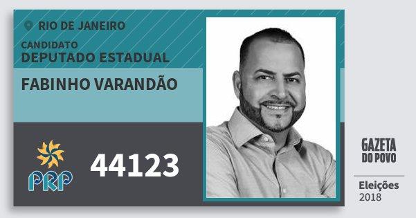 Santinho Fabinho Varandão 44123 (PRP) Deputado Estadual | Rio de Janeiro | Eleições 2018