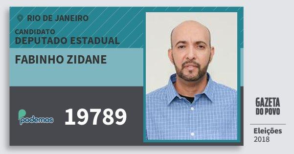 Santinho Fabinho Zidane 19789 (PODE) Deputado Estadual | Rio de Janeiro | Eleições 2018