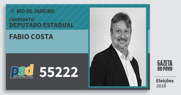 Santinho Fabio Costa 55222 (PSD) Deputado Estadual | Rio de Janeiro | Eleições 2018