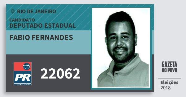 Santinho Fabio Fernandes 22062 (PR) Deputado Estadual | Rio de Janeiro | Eleições 2018