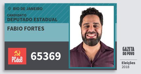 Santinho Fabio Fortes 65369 (PC do B) Deputado Estadual | Rio de Janeiro | Eleições 2018
