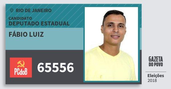 Santinho Fábio Luiz 65556 (PC do B) Deputado Estadual | Rio de Janeiro | Eleições 2018