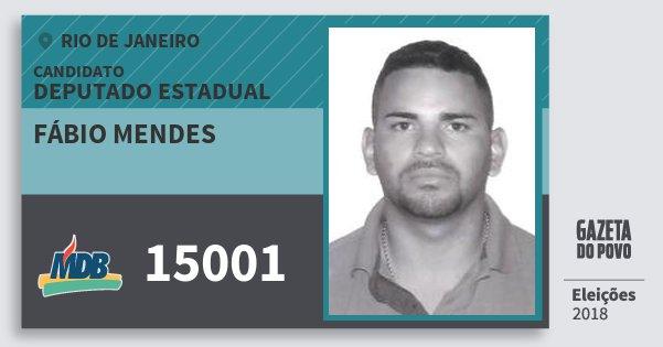 Santinho Fábio Mendes 15001 (MDB) Deputado Estadual | Rio de Janeiro | Eleições 2018