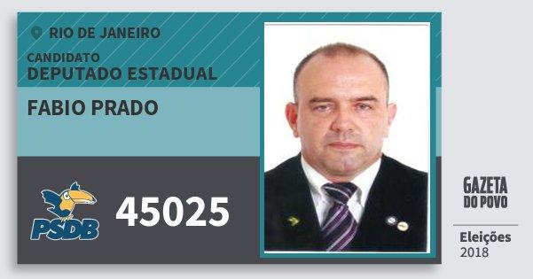 Santinho Fabio Prado 45025 (PSDB) Deputado Estadual | Rio de Janeiro | Eleições 2018