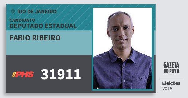 Santinho Fabio Ribeiro 31911 (PHS) Deputado Estadual | Rio de Janeiro | Eleições 2018