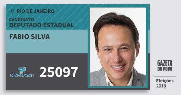 Santinho Fabio Silva 25097 (DEM) Deputado Estadual | Rio de Janeiro | Eleições 2018